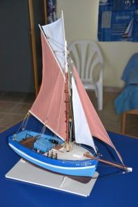 Maquette d'un bateau de plaisance