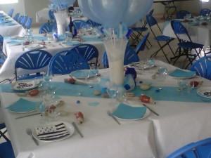 Une salle en bleu
