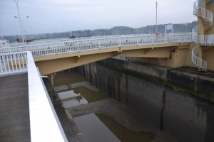 L'écluse du barrage d'Arzal à sec